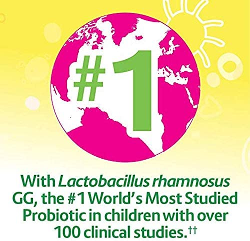 51gnMIlD3pL. AC - Culturelle Kids Chewable Daily Probiotic For Kids - Natural Berry - Supports Immune, Digestive, And Oral Health - For Age 3+ - Gluten,Dairy,Soy-Free - 30 Count (AMR-028)