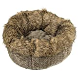 Ador-A-Pet Luxury Small Dog Bed. Faux Fur deep Donut Cuddler Bagel Bed.23inch Plush, Quality Filling,self Warming.High Sides Provide Orthopedic Support, Fully Washable,Zippered Insert,Non Slip Base
