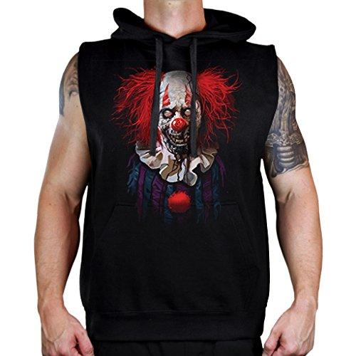 Interstate Apparel Men's Zombie Clown Sleeveless Vest Hoodie 4X-Large Black ()