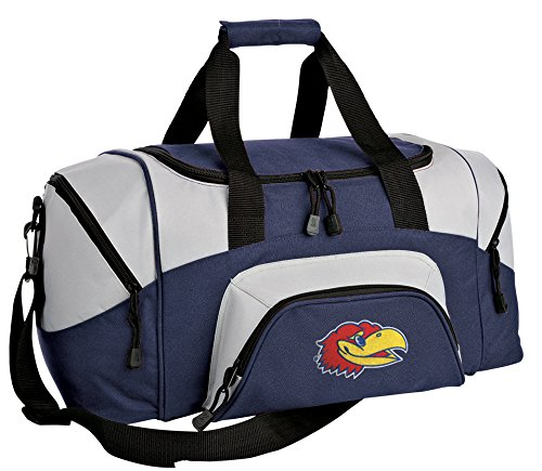 Broad Bay SMALL University Kansas Gym Bag Deluxe KU Jayhawks Travel Duffel Bag (Kansas Jayhawks Duffle Bag)