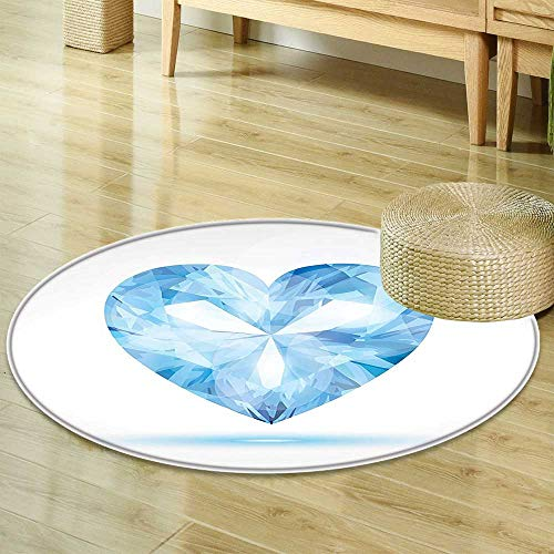 D100 Shade - Anti-Skid  Area Rug Collection Big Hanging Valentine Heart with Bright Shades Shadow Box Passion Romance Fortune Soft Area Rugs