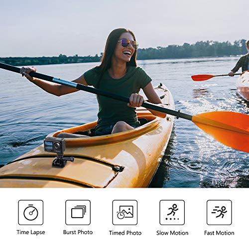 AKASO Cámara Deportiva WiFi 4K 20MP Cámara de acción con Pantalla Táctil Cámara acuatica Sumergible 40M EIS Control Remoto 2 Baterías Multi Accesorios (Brave 7 LE)