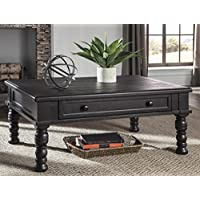 Sharlowe Charcoal Color Rectangular Cocktail Table