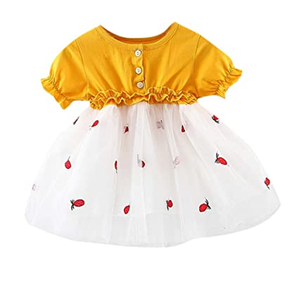 7d6f6b3fa78dc Amazon.com: ❤ Mealeaf ❤ Infant Baby Girls Short Sleeve ...