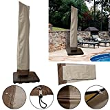 Waterproof Outdoor Patio Offset Umbrella Cover Fit 6 to 11 Ft Weather Protection