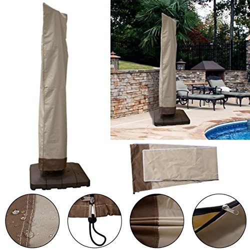 Waterproof Outdoor Patio Offset Umbrella Cover Fit 6 to 11 Ft Weather Protection by unbrand