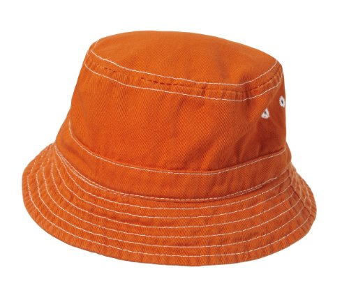 City Thread Unisex Baby Solid Wharf Hat Bucket Hat for Sun Protection SPF Beach Summer - Orange - M(6-18M) (Accessory Summer)
