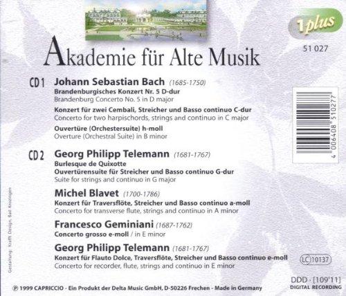 JOHAN SEBASTIAN BACH - Academy for Ancient Music - Amazon
