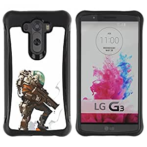 LASTONE PHONE CASE / Suave Silicona Caso Carcasa de Caucho Funda para LG G3 / alien planet futuristic character hero