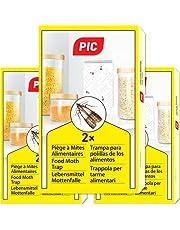 PIC levensmiddelen-mottenval – drie pakken a twee vallen = 6 stuks – middel ter bescherming tegen motten in de keuken of voorraadruimtes – mogelijke verzending naar Oostenrijk