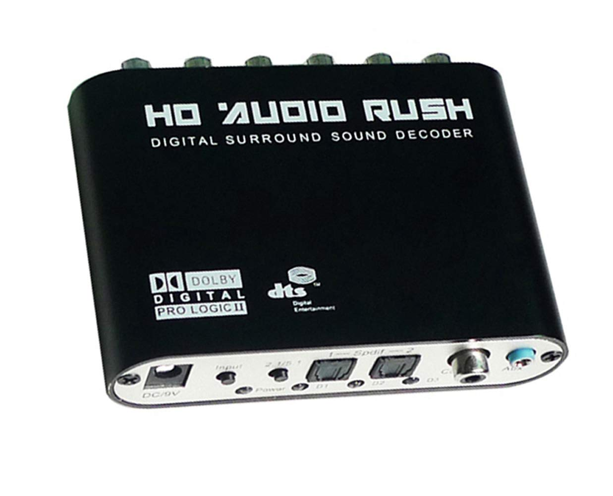 Luzan 5.1 Audio Fiebre Digital Sound Decoder Convertidor ó ptico SPDIF coaxial Dolby AC3 DTS (R/L) esté reo a 5, 1 ch analó gico Audio (6RCA de salida) 1ch analógico Audio (6RCA de salida) NQ017B-51R