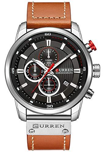 Amazon.com: Mens Military Sport Watches Date Multi-Function Wristwatch Reloj Hombre Mens Quartz Leather Strap: Watches