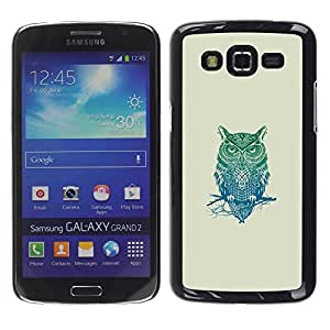 EJOY---Cubierta de la caja de protección la piel dura para el ** Samsung Galaxy Grand 2 ** --Patrón Búho tribal