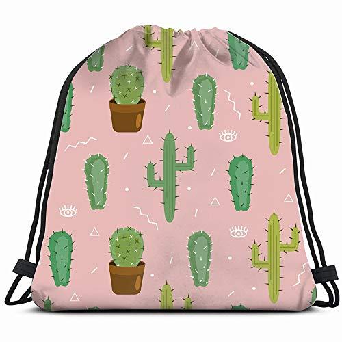 Cactus Cacti Nature Drawstring Backpack Gym Dance Bags For Girls Kids Bag Shoulder Travel Bags Birthday Gift For Daughter Children Women