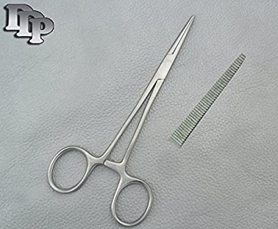DDP Stainless Steel Straight Pet Hemostat with Locking Ratchet, 5-1/2-Inch