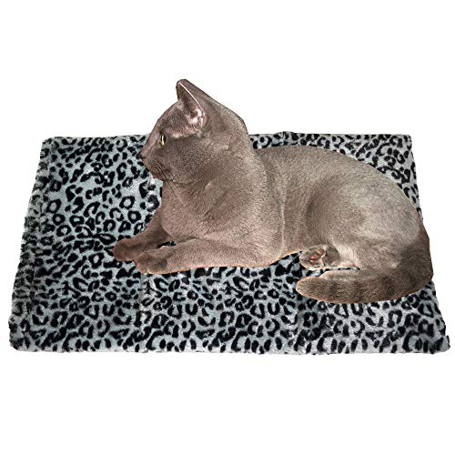 Thermal Cat Pet Dog Warming Bed Mat, Comfortable Nap, Sleeping and Crate Mat for Cats (Regular, Grey)
