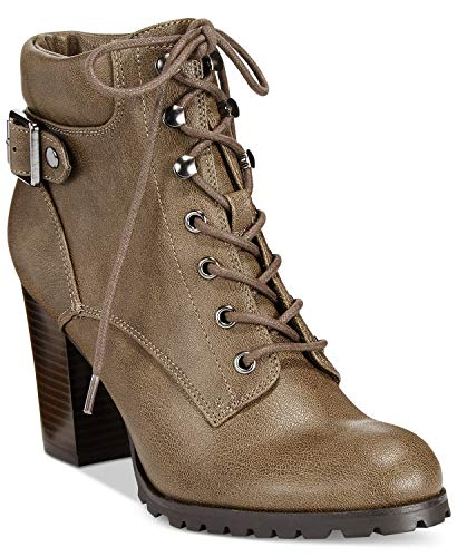 - Style & Co. Womens Caitlin Lace-Up Ankle Booties Mink 10 M US