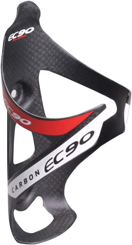 para jaulas de Botellas de Agua de Carretera EC90 Jaula de Botellas de Fibra de Carbono s/úper Ligera 20g Jaulas para Bicicletas de Carretera MTB Rojo//Gris Portabotellas para Bicicleta