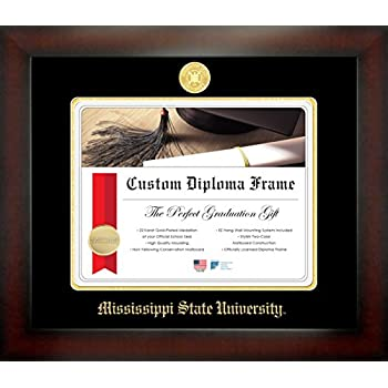Amazon.com - Campus Linens Mississippi State Bulldogs Diploma Frame ...