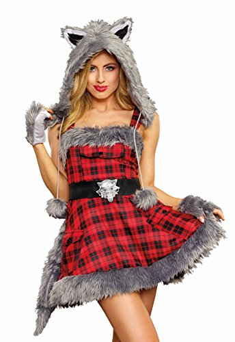 Cute Wolf Costumes For Women - Dreamgirl Women's Cute Big Bad Wolf