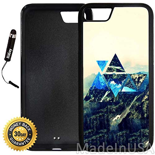 Custom iPhone 8 Case (Hipster Super Abstract Mountain) Edge-to-Edge Rubber Black Cover Ultra Slim   Lightweight   Includes Stylus Pen by Innosub (Super Hipster)