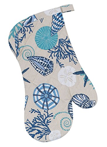 Kay Dee Designs R2545 Blue Shells Quilted Oven Mitt