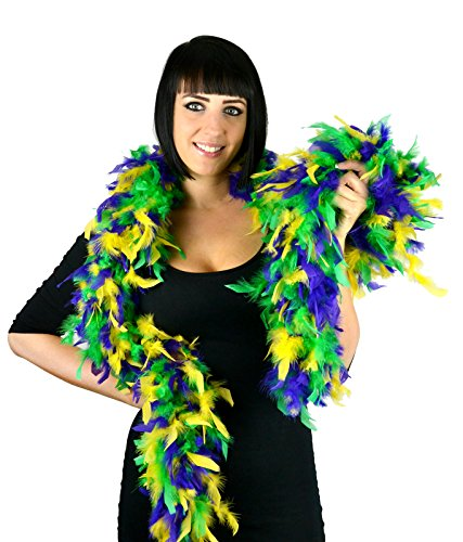 Touch of Nature 40870 1 Piece Chandelle Boa Mardi Gras Mix, 70g/2 yd ()