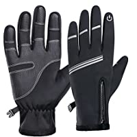 NIXUS Cyclery Winter Cycling Gloves, Warm Windproof Touchscreen Perfect for MTB, Road, Gravel, Bikepacking Cycling and…