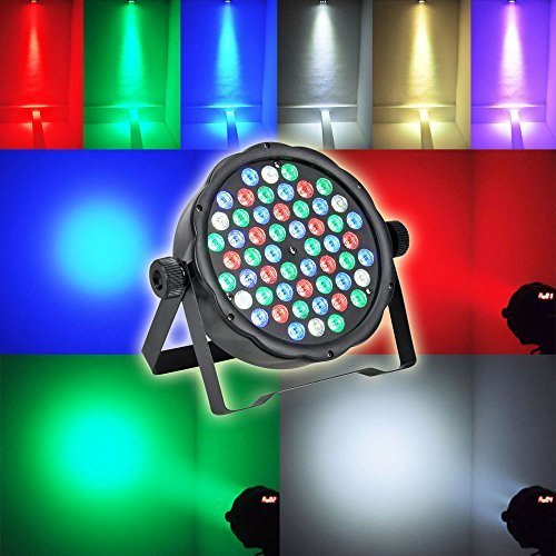 LED Par lights,Sumger 54 RGBW Up-lighting With DMX512 Control Stage Lighting for Family Party,DJ,KTV,DISCO,Nightclubs,Discos,Bars,Shopping malls,Weddings, Parks, - Water Tower Mall