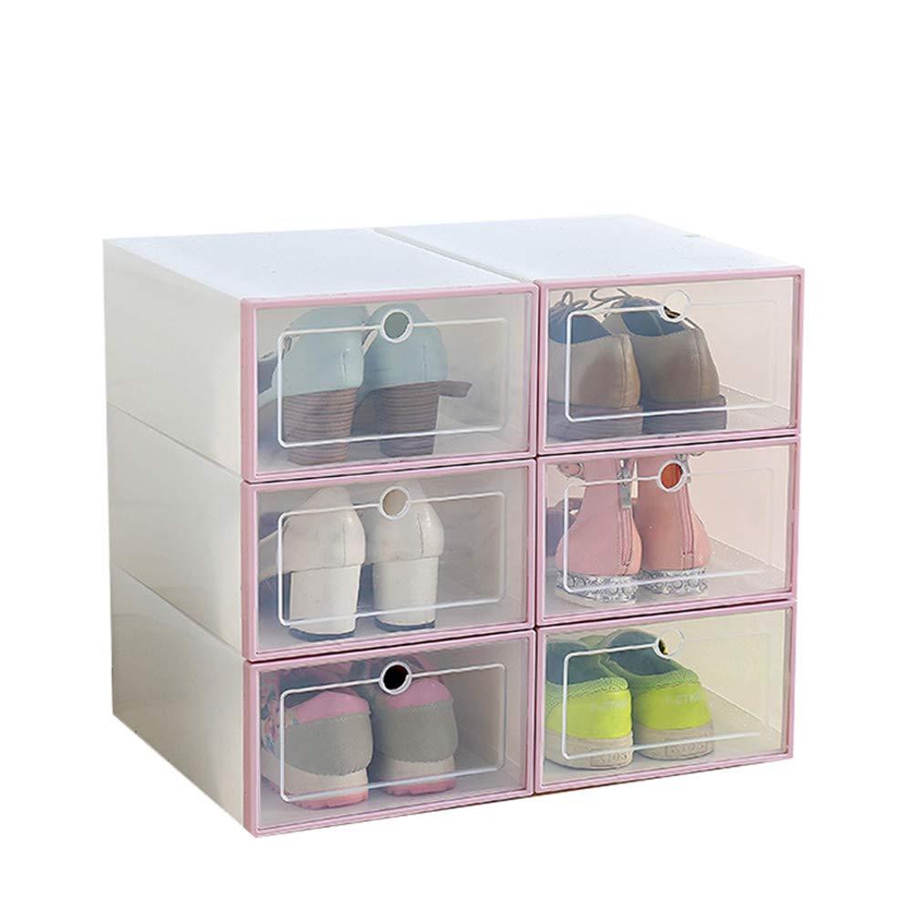 Gizayen 20 Pcs Transparent Shoe Box Flip Design Plastic Storage ...
