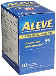 Bayer 48850 Aleve Naproxen Sodium Tablet, 220mg Packet (Pack of 50)