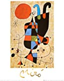 Upside-Down Figures Art Poster Print by Joan Miró, 10x12