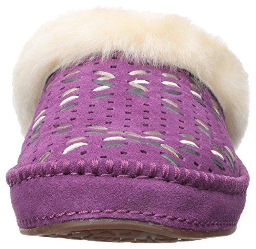 Ugg Womens Aira Tehuano Slip On Slipper Purple Passion
