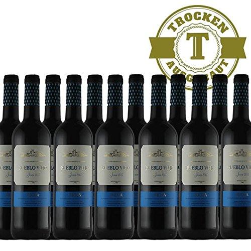 Rotwein Spanien Rioja Pueblo Viejo Tempranillo 2015 halbtrocken (12 x 0,75l) - VERSANDKOSTENFREI -