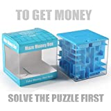 Trekbest Money Maze Puzzle Box - A Fun Unique Way to Give Gifts for Kids and Adults (Blue)