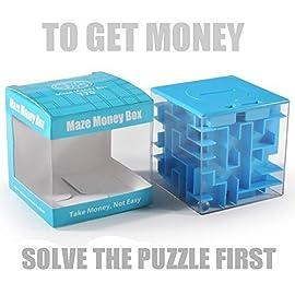 Trekbest Money Maze Puzzle Box - Amazing Puzzle Box for Kids as Christmas Gift Birthday Gift (Blue)