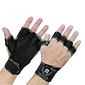 Well-Being-Matters 51gnSWO3x%2BL._SS300_ Mava Sports Ventilated Workout Gloves with Integrated Wrist Wraps and Full Palm Silicone Padding Extra Grip & No…