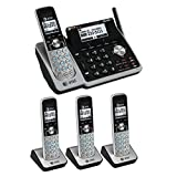 AT&T TL88102 Dect 6.0 2-Line Landline Cordless Telephone with 3 TL88002 Handsets