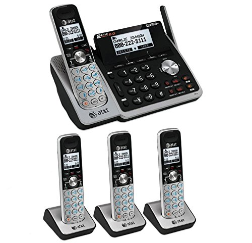 4 System Telephone Line - AT&T (TL88102) Dect 6.0 1-Handset 2-Line Landline Telephone Bundle with 3 Handsets and Dual Caller ID/Call Waiting
