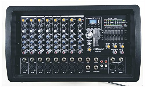 GTD-Audio 8 Channel 4000Watt Professional Powered Mixer Amplifier (1000 Watt RMS ) by GTD Audio