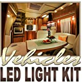 Biltek 16.4' ft Warm White Fishing Storage Compartment LED Strip Lighting Kit - Motorhome Boat Cabin Yacht Compartment Interior Lighting Waterproof DIY 110V-220V