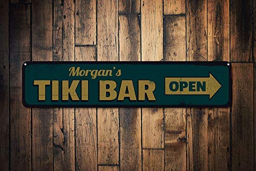 Señal de bar Tiki personalizada, letrero de flecha de barra ...