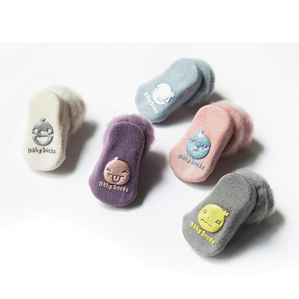 bianco White M: 1-3 years old Baby calzini 0//–/36/mesi Leegoal unisex cotone per bambini calzini antiscivolo e traspirante e confortevole e morbido Baby calzini neonata per ragazze e ragazzi