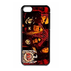 American thrash metal band Slayer Personalized iPhone 5C Hard Plastic Shell Case Cover White&Black(HD image)