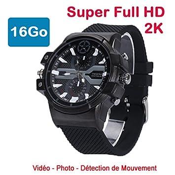 Cyber Express Electronics reloj Mini cámara espía 2 K SUPER Full HD 2304 x 1296P detección de movimiento cel-dwf-7416: Amazon.es: Electrónica