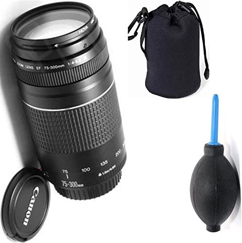 Deluxe Lens Blower Brush Canon 75-300mm III Zoom Lens Lens Carrying Pouch