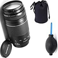 Canon 75-300mm III Zoom Lens + Deluxe Lens Blower Brush + Lens Carrying Pouch