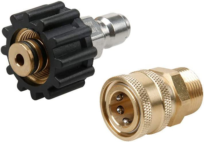 2 pcs Quick Disconnect M22x 1.5mm 14mm+15mm for Power Pressure Washer Pump