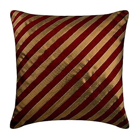 rojo fundas de almohadones, 65x65 cm fundas de cojin, Rayas ...