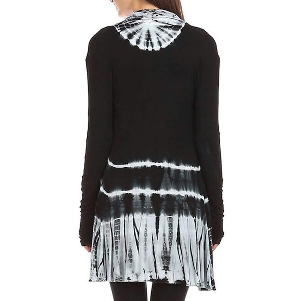 Amazon.com: Sunhusing Ladies Gradient Tie-Dye Print Long Sleeve Hi-Low Open Cardigan Asymmetric Top: Clothing